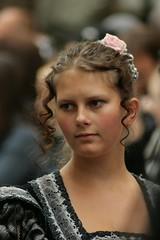 Medieval curls (Svedek) Tags: pink shadow portrait woman black history girl face hair dress documentary curl decolt aplusphoto