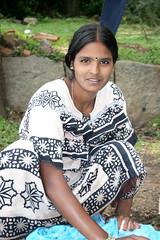 Girl doing washing Nandi Hills (Pondspider) Tags: india girl bangalore karnataka washing nandihills pondspider