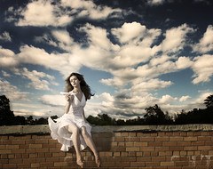 I Will Make You Paper Airplanes (Leah Johnston) Tags: portrait woman selfportrait girl female clouds self airplane poetry poem leah brickwall poems johnston paperairplane whitedress selfportraitartist leahjohnson leahjohnston leahjohnstonphotography leahjohnsonphotography leahjohnstonphotos