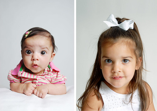 Sophia as baby and at 2 1/2