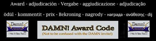 Damn Award Banner