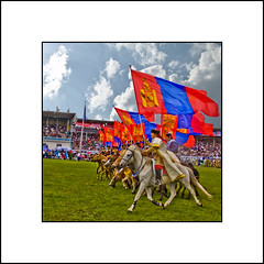 Mongolian National Revolution day NAADAM (Explored) (Mr.GG) Tags: horse flag mongolia naadam mrgg platinumphoto ggmgl
