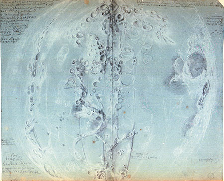 Giandomenico Cassini - Diseños originales de la Luna (1671-1679)