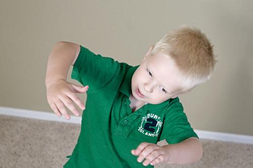 Eli 'dancing'! :)