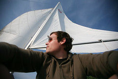 i like the cut of his jib (sgoralnick) Tags: andy sunglasses sailboat maine boothbay andyclymer