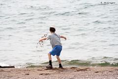 Sand Tossin (R. McGregor) Tags: ontario water canon xs northern wawa driftwoodbeach michipicoten