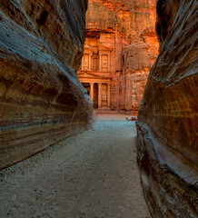 Petra (Leo Druker) Tags: mountains history nature carved ancient roman petra siq wideangle cliffs camel lawrenceofarabia indianajones historiccity excavation thetreasury ancientcity romancity thesiq classicshot nabetean clicheshot petrajordan cityofdeath 7newwondersoftheworld nikond3 nikkor122428 tatatataaa
