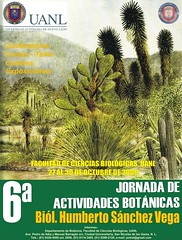 6° Jornada de Actividades Botánicas, FCB, UANL
