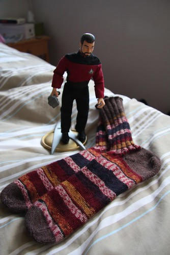 T&C socks with Riker