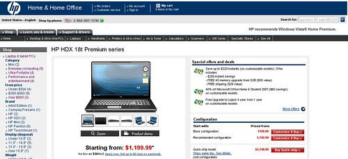 HP HDX 18t Premium series