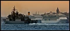 Peace at Home, Peace in the World... (♫...Onur) Tags: blue turkey photography ship turkiye istanbul manzara gemi kartpostal enstantane kruvaziyer savaşgemisi peaceathomepeaceintheworld yurttasulhcihandasulh flickrlovers yolcugemileri