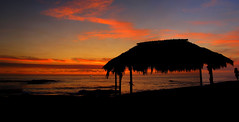 La Jolla Windansea (peasap) Tags: ocean sunset red summer beach silhouette canon boat surf pacific august lajolla surfing hut friday summernights poweshot g10 92039