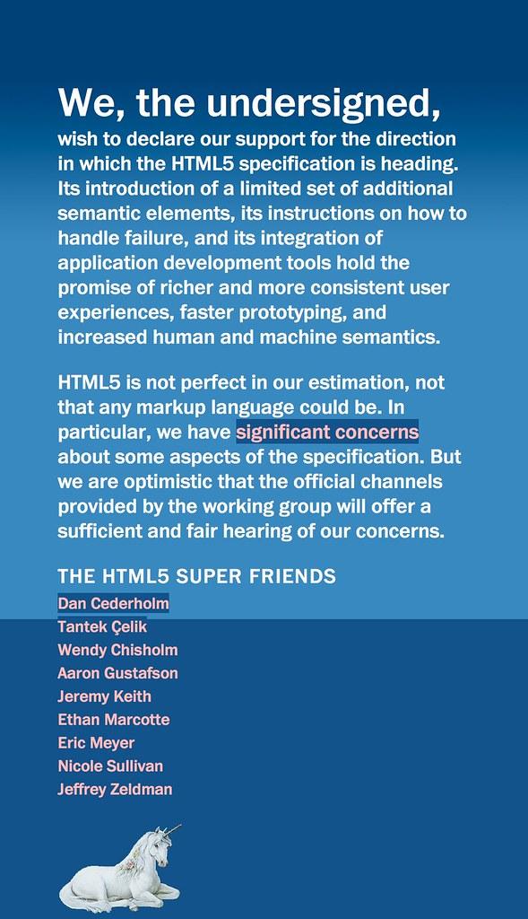 Captura de pantalla del manifiesto HTML5 Super Friends