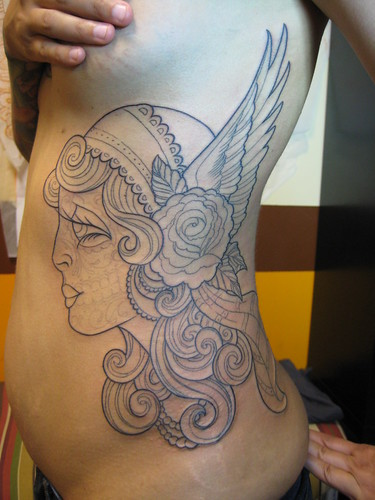 day of dead girl tattoo pictures. Day Of The Dead Gypsy Girl In