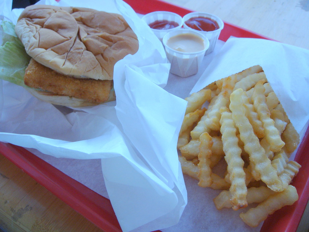 Fish Burger & Fries