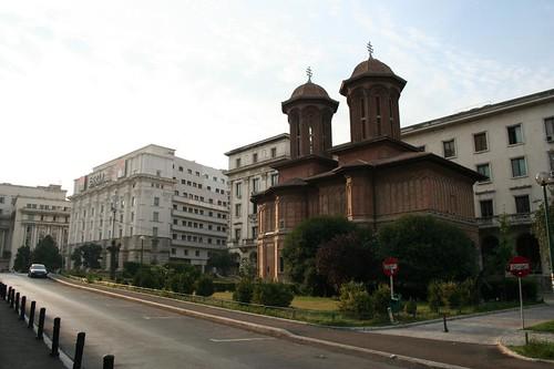 Igreja Kretzulesco no centro de Bucareste na Roménia
