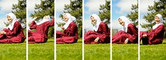 Pre-Raya photoshoot - Asilah Collage.. (Pheeque) Tags: friends people collage photoshoot hijab australia laugh adelaide malaysian melayu malay adelaidebotanicalgarden preraya