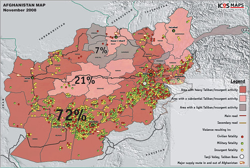 ICOS Map of Permanent and Significant Insurgent Presence in Afghanistan, Nov. 2008