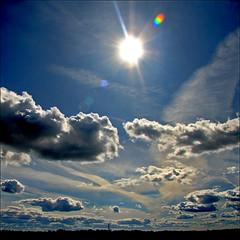 ~ Partly Sunny, Partly Not ~ (ViaMoi) Tags: travel blue sky sun ontario canada nature clouds canon photo vibrant ottawa sunday bluesky canadian naturalist naturesfinest reallensflare ottawacanada 40d canon40d naturewatcher viamoi