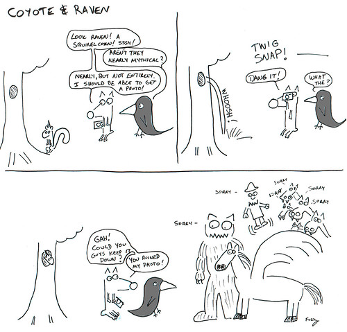 366 Cartoons - 224 - Coyote and Raven