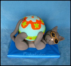 Gatto superstar / Superstar Cat (Fantasticakes (Ccile)) Tags: cat ball gatto bolos 3dcakes tortasdecoradas sugarmodelling tortedecorate