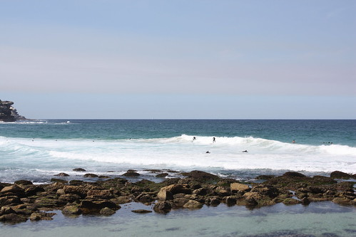 Surfers at Bronte Beach, Sydney