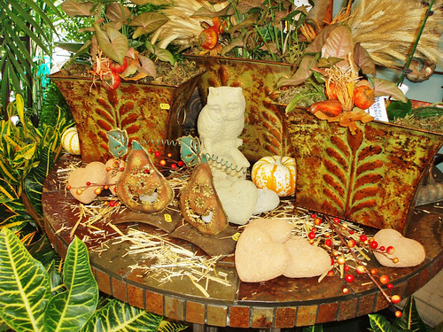 pumpkin items, gift items, fall harvest planters