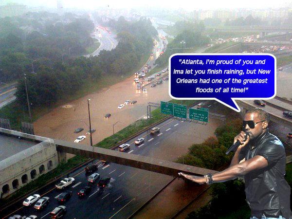 Thumb Kanye West criticando la inundación de Atlanta