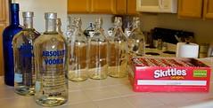 Skittles vodka materials