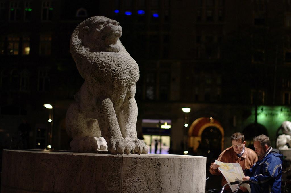 Amsterdam lion on the Dam