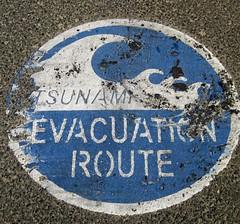 Ruta de evacuación de Tsunami. Oregon