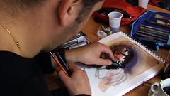 """Christophe au travail à notre QG d'irkoutsk : La Fiesta. Dehors, il neige, il vente • <a style=""""font-size:0.8em;"""" href=""""http://www.flickr.com/photos/12564537@N08/3989038981/"""" target=""""_blank"""">View on Flickr</a>"""