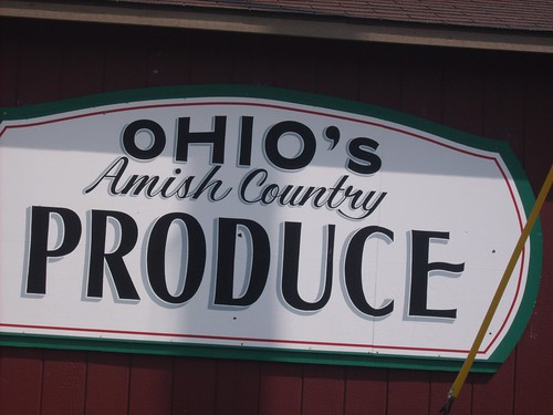 amish country sign
