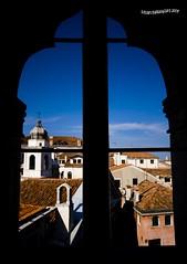 Window in the sky (DELIA CEAUSOGLU) Tags: mostra venice sky window arte canvas finestra cielo venezia cornice fortuny infinitum palazzofortuny