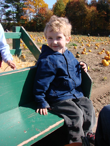 sam on hayride