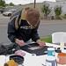 WFU volunteer Justin Hutton designing his t-shirt
