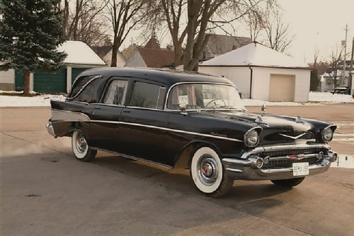 hearse 1957 chevy