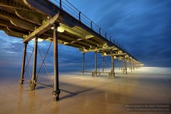 World without end (~Glen B~) Tags: blue sea sky cloud mist night pier sand cloudy dusk saltburn