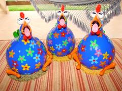 TriPM (POLEIRO DE CORES) Tags: chicken galinha handmade artesanato biscuit gourd calabaza decorao tpm gallinas cabaa toyart porcelanafria porongo poronga