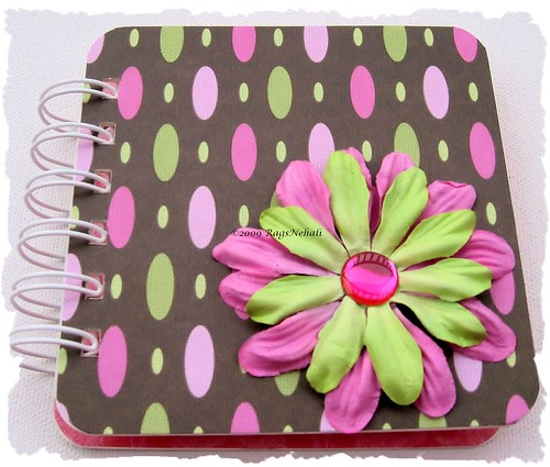 Amy Butler Brown Pink Green Solla Post It Holder