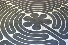 Labyrinth center (rosette) (wplynn) Tags: indiana tape lutheran labyrinth chartres maskingtape disciplesofchrist christianchurch disciples lutheranchurch elca newpalestine crossofgrace