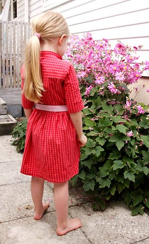 Red dress from daddy's shirt