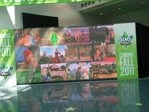 Sims 3 Pets E3 2011 Video Teaser Screen