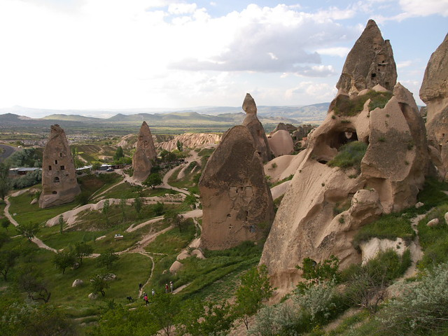 Uchisar 外圍的景觀