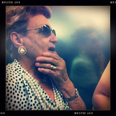The Seeds of a Doubt (ale2000) Tags: street woman sunglasses mouth square gold donna hand candid watch fingers elevator earring pearls ring elder mano doubt jewels doubtful bocca dita perle pois oro ascensore dubbio anello profilo signora occhialidasole orecchino dubbiosa iphoneography hipstamatic pistilfilm tejaslens