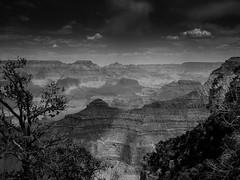 Grand Canyon (Günther Bayerle) Tags: black white mountain grand canyon usa