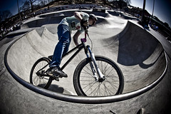 Mountain Bike (x_dave_x) Tags: sun mountain sports bike bmx ramp extreme fisheye skateboard parkbmx parkbike 5dmarkii