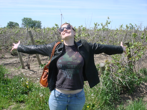 Erica in a vineyard.