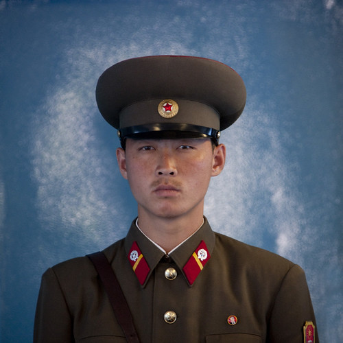 north korean army uniform. North Korea soldier at DMZ