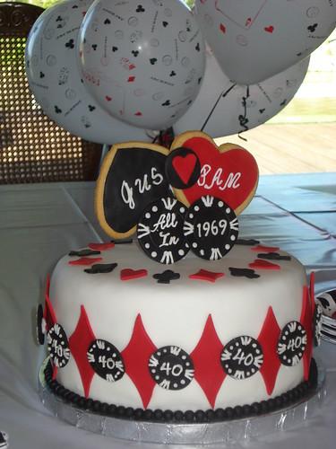 Anniversary Poker Cake